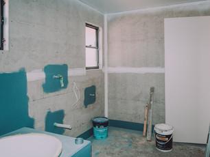 Waterproofing of large bathroom