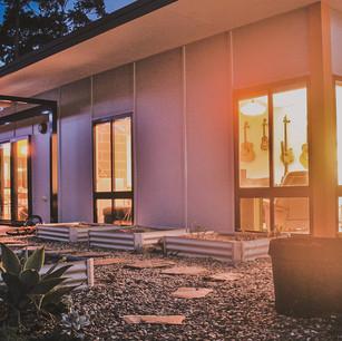 Double glazed windows on solar passive design