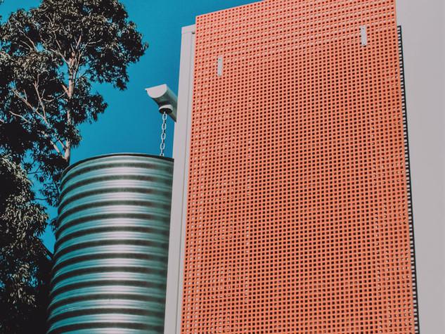 Solar passive design innovative external vertical shading