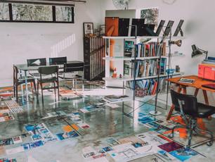 Eco Office with industrial design floor