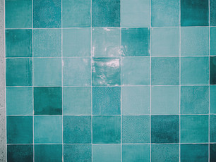 Bespoke feature tiles give a splash of colour