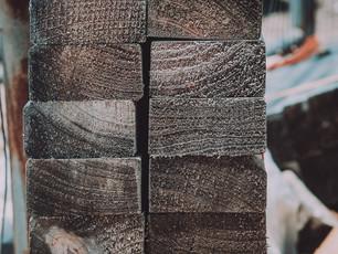 Charred Black Hardwood Close up