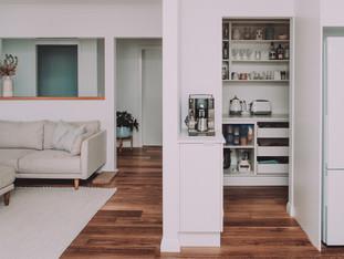 Beachside Living room, best pantry