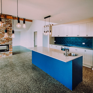 Kitchen island design for contemporary country kitchen design