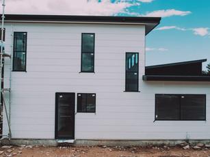 Modern Eco Home Design Malua Bay Detail of horizontal cladding