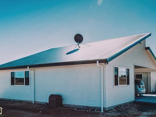 Split skillion roof design for rural homestead