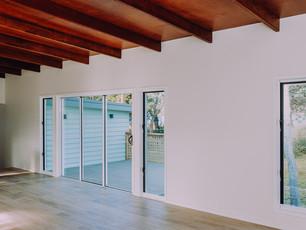 Stacker doors onto deck