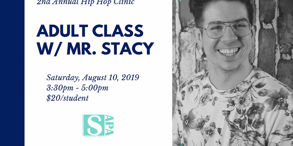 Adult Hip Hop Clinic with Mr. Stacy
