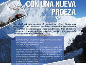 """""""Cumbre 8000"""": MONTAÑISTA VÍCTOR RÍMAC REGRESA AL PERÚ CON UNA NUEVA PROEZA"""
