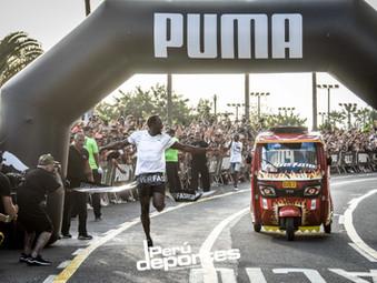 """Usain Bolt, """"el hombre mas rápido de la historia"""" se enfrentó a una mototaxi en Miraflores"""