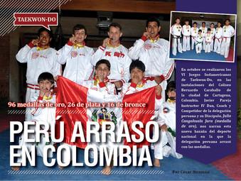 Taekwon-Do - Perú arrsó en Colombia: 96 medallas de oro, 26 de plata y 16 de bronce