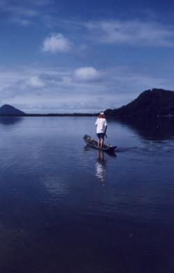 testando canoa