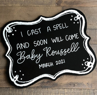 Spell-Themed Birth Announcement