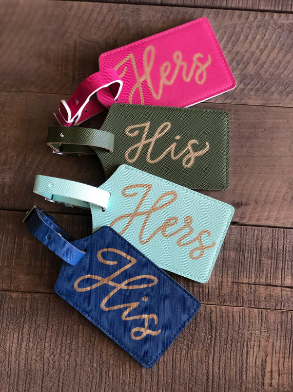 His & Hers Luggage Tags