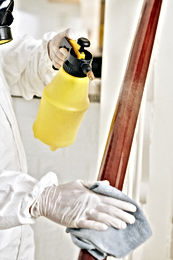 cleaning-service-worker-spraying-stairca