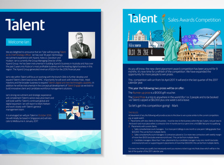 Talent International - Social Media + Copywriting + Design