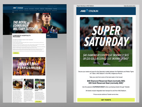 ANZ Stadium - Marketing & Emails