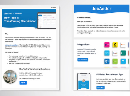 JobAdder - Email Design + Automation