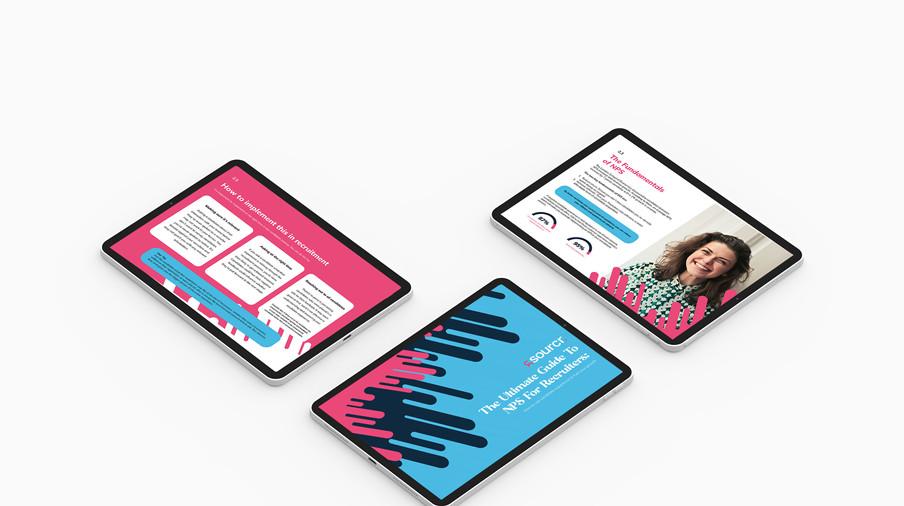 Sourcr ebook mockups on iPad