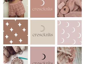Crescknits Logo + Branding