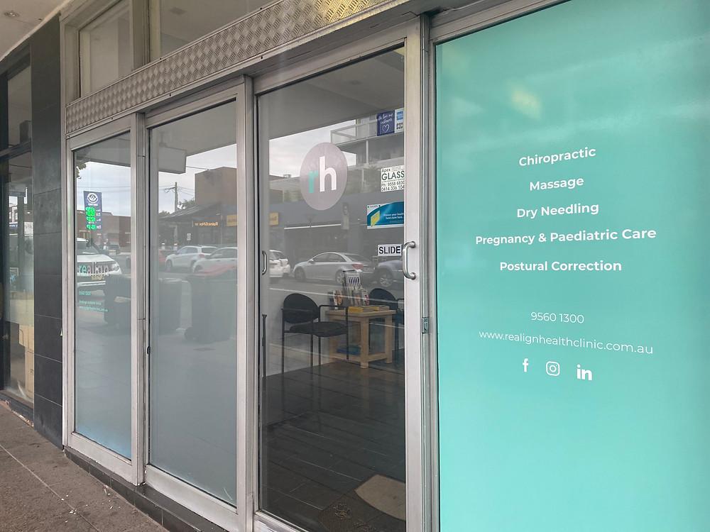 realign health storefront design