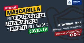 Webinar MARCARILLA EN E.F., ACTIVIDAD FÍSICA Y DEPORTE EN TIEMPOS DE COVID-19