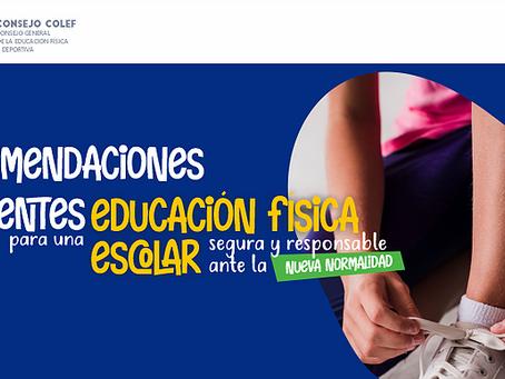 """'Recomendaciones para una Educación Física escolar segura y responsable ante la """"nueva normalidad"""""""