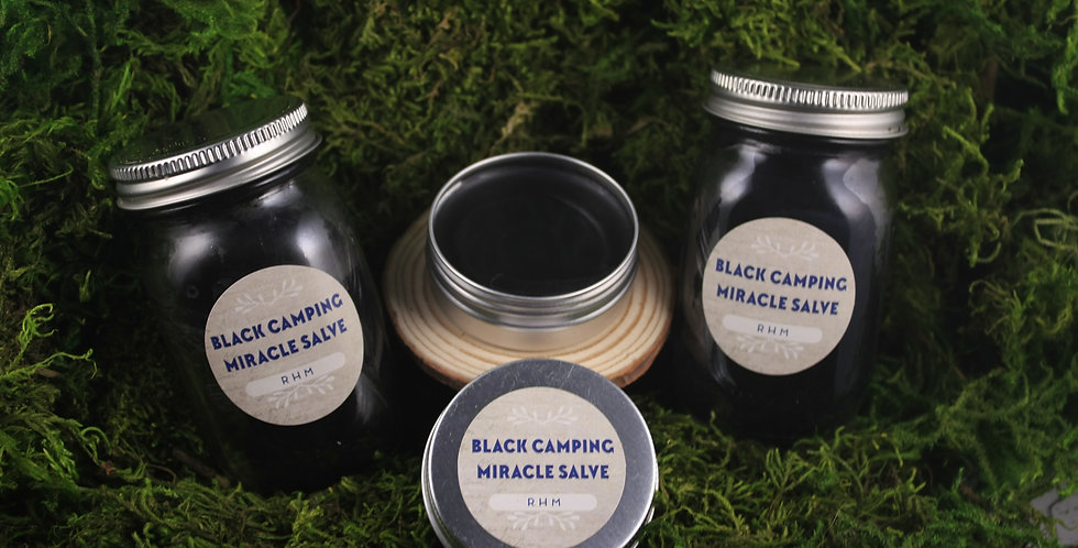Camping Black Drawing Salve 1oz.