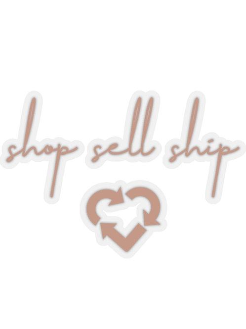 shop sell ship ♲ sticker