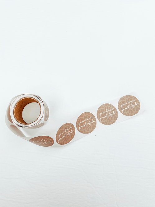 you have great style ♡ decorative sticker roll