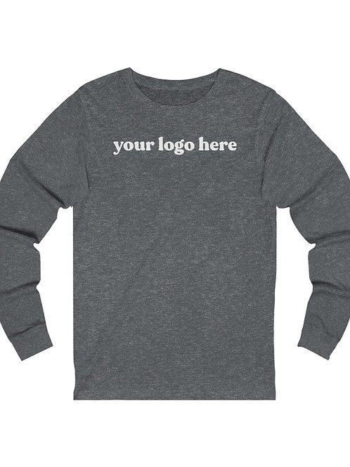 custom logo long sleeve tee