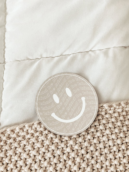 be kind smiley face / magnet