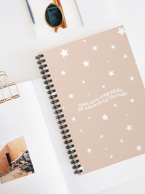you are capable of amazing things / spiral notebook