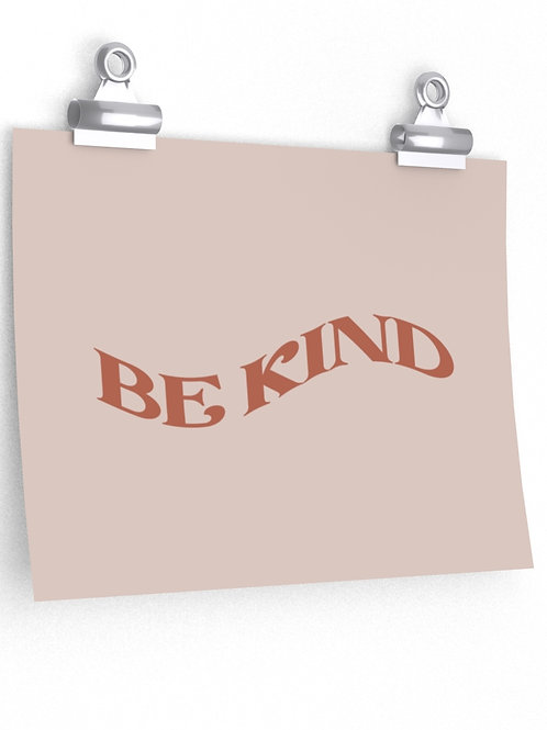 be kind / poster