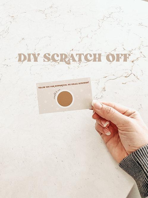 scratch off template / digital download