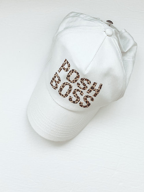 POSH BOSS / Leopard Print White Hat