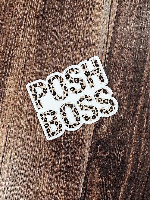 posh boss / leopard sticker