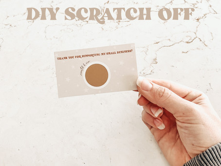 DIY Scratch Off Cards for Your Small Business!
