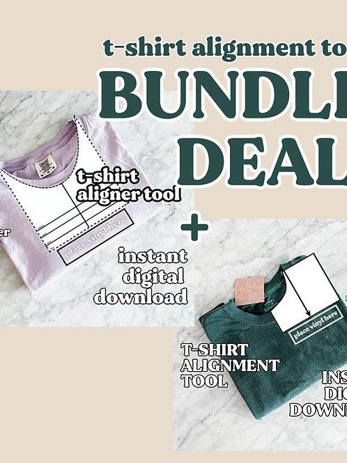 t-shirt alignment guide bundle / printable digital download