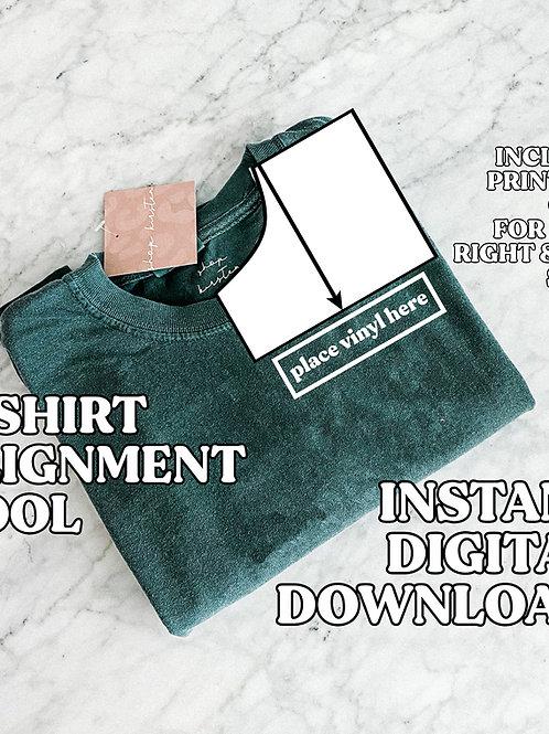 t-shirt pocket alignment guide / printable digital download