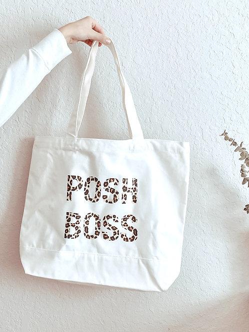 posh boss / leopard tote bag