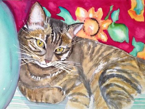 """Watercolor of Josie 11""""x14"""""""