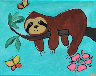 Sloth with Flowers Art Kit