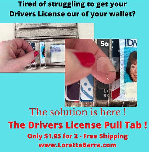 Drivers License Pull Tab
