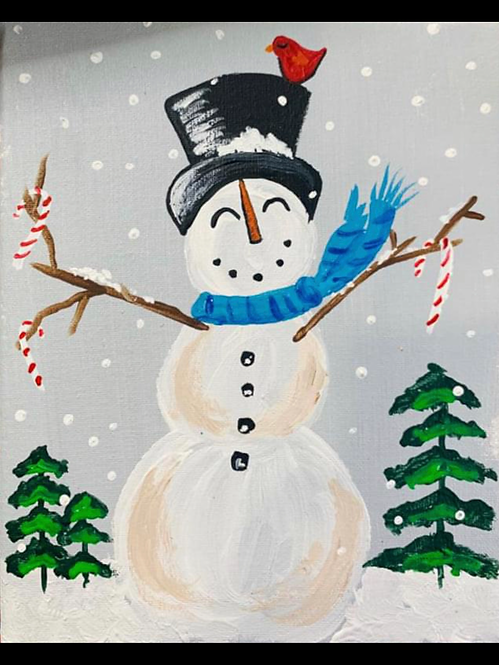 Snowman Art Kit