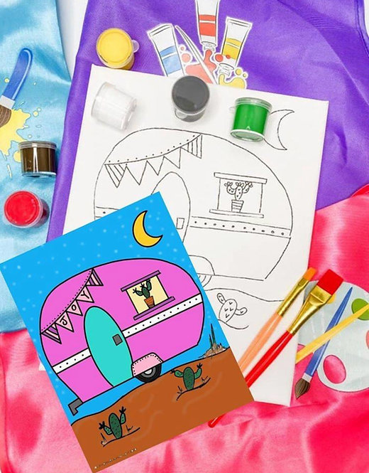 Happy Camper Art Kit