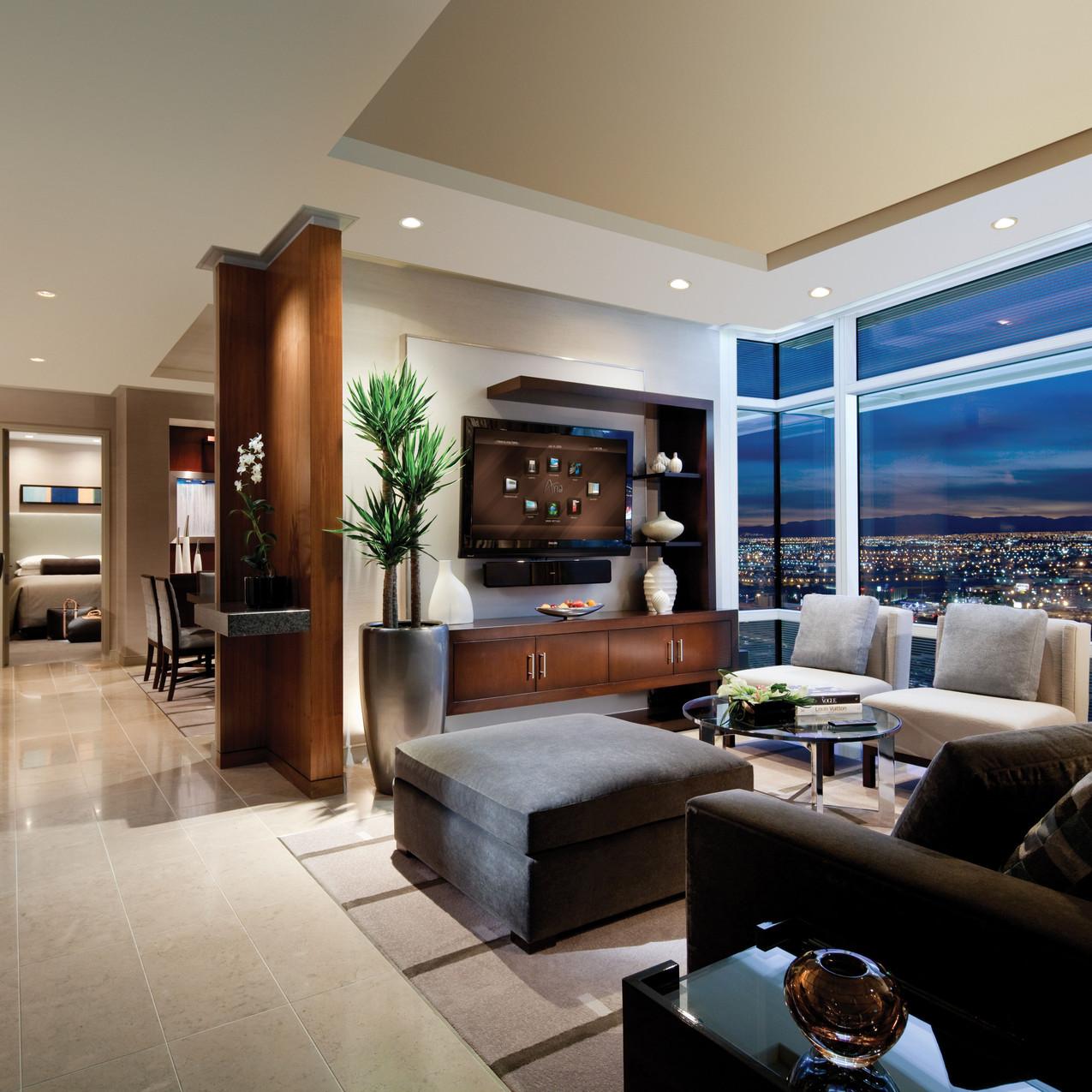 ARIA - Sky Suites - Two-bedroom Living Room