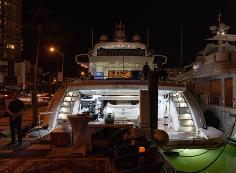 Miami Superyacht Soirée Aboard Miss Moneypenny V With Vontobel, Axiom Space, Burgess Yachts, Rebecca