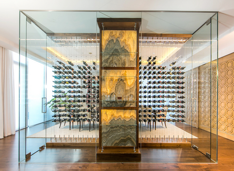 Cable Wine Systems - Floating Wine Rack System