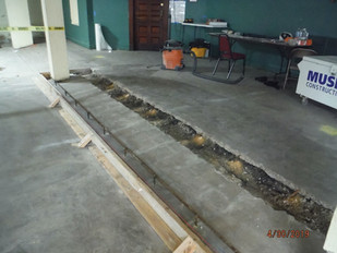 Trench for stage